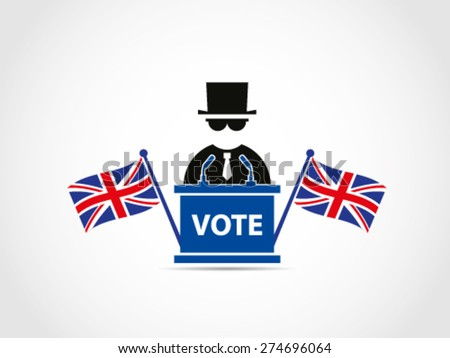 UK Britain Flags Businessman Politician Businessman Mafia Manipulate Politic - stock vector