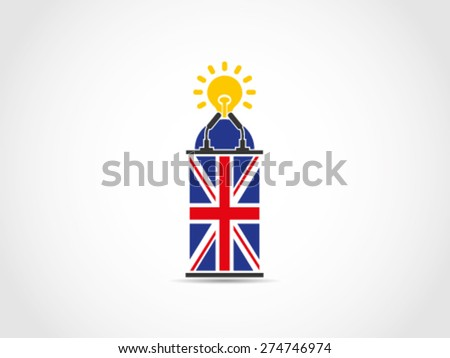 UK Britain Inspiring Speech - stock vector