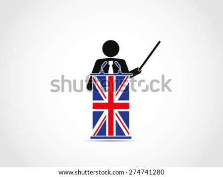 UK Britain Institution Presentation - stock vector