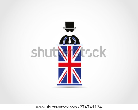 UK Britain Mafia Politician Policy - stock vector