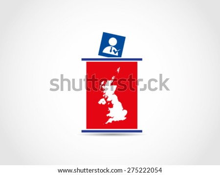 UK Britain Podium Voting Prime Minister - stock vector
