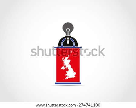 UK Britain Pointless Speech - stock vector