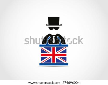 UK Britain Politician Businessman Mafia Policy - stock vector