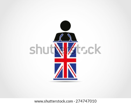 UK Britain Public Speaking - stock vector