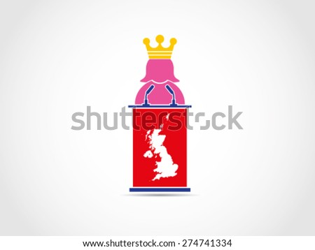 UK Britain Queen - stock vector