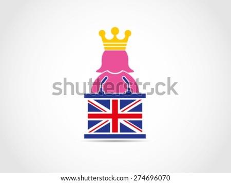 UK Britain Queen Speech Policy - stock vector