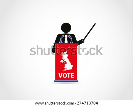 UK Britain Voting Analyst Presentation - stock vector