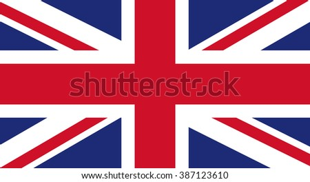 UK flag - stock vector