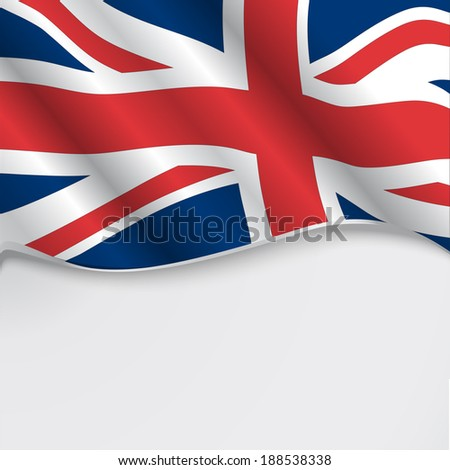UK flag or union jack with copy space - stock vector