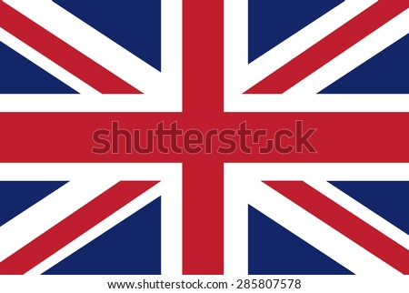 UK flag vector - stock vector