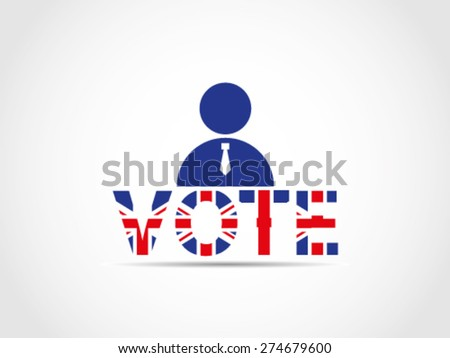 UK Great Britain Elections Politician Candidate Aspirant Challenger Expectant Nominee - stock vector