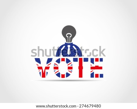 UK Great Britain Elections Politician Without Solution Idea Useless Pointless - stock vector