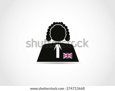 UK Judge - stock vector