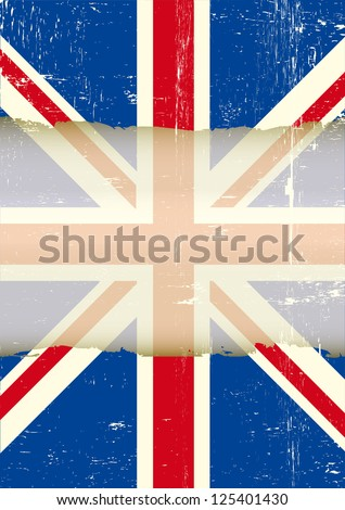 Cute British Flag Shabby Chic Floral Stock Vector