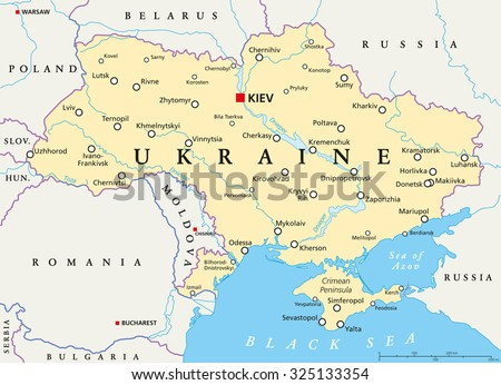 Kazakhstan political map capital astana national stock vector ukraine political map with capital kiev national borders important cities rivers and lakes sciox Choice Image