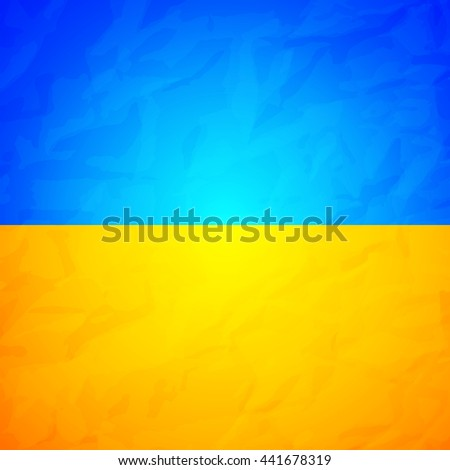 Ukraine State Flag Effect Crumpled Paper Stock Vector Hd Royalty