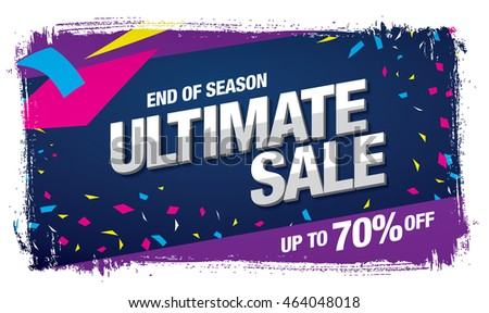 Ultimate sale banner template design