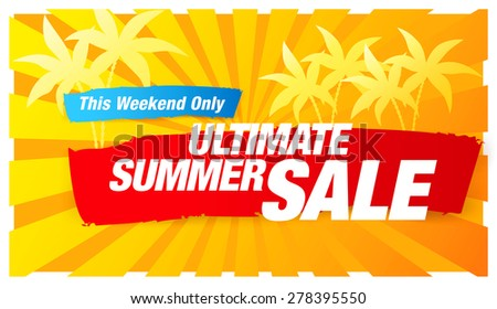 ultimate summer sale - stock vector