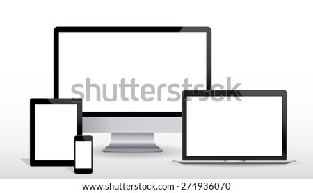 Ultimate web design electronic devices vector EPS10 - stock vector