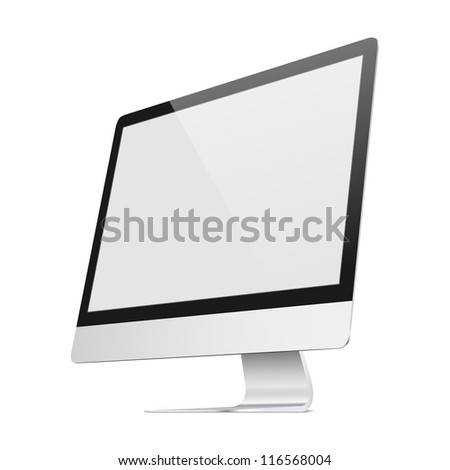 Ultra flat screen - stock vector