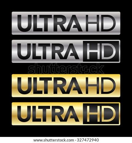 Ultra HD - stock vector