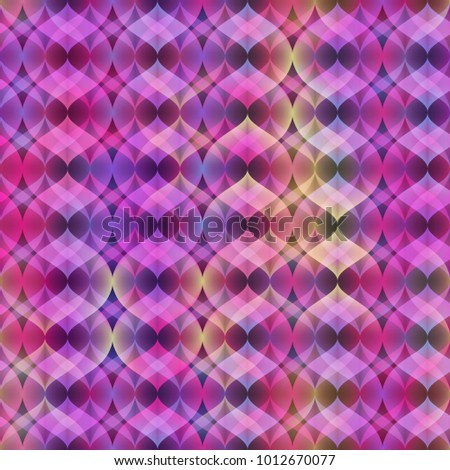 Ultra Violet Neon Vector Seamless Pattern. Bright neon effect. Layered pattern. Golographic effect.