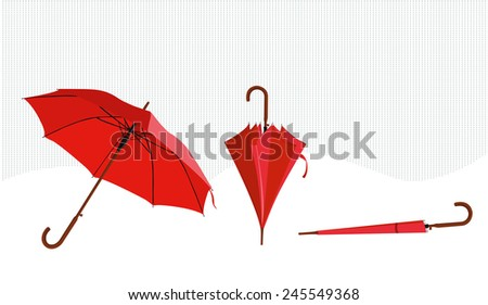 umbrella fashionable - stock vector
