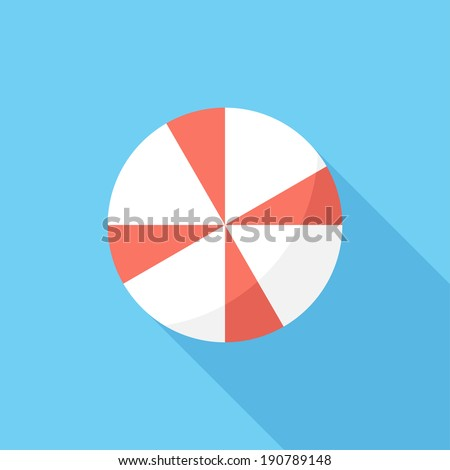 Umbrella icon. Flat design style modern vector illustration. Isolated on stylish color background. Flat long shadow icon. Elements in flat design. - stock vector