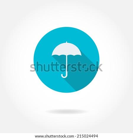 Umbrella icon or sign. Vector illustration. - stock vector