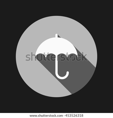 umbrella icon. protection from rain and moisture - stock vector