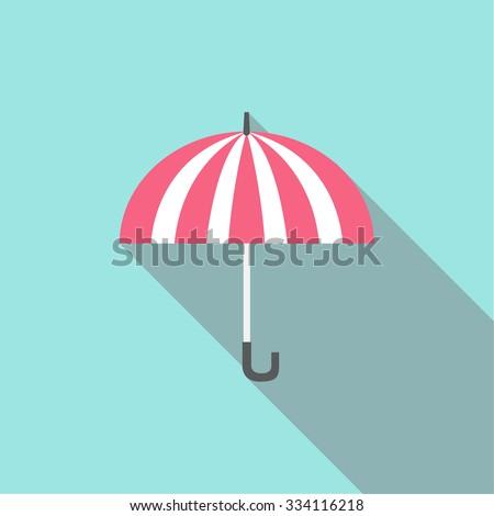 umbrella icon vector / flat design - stock vector