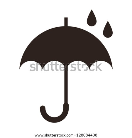 Umbrella isolated on white background - stock vector