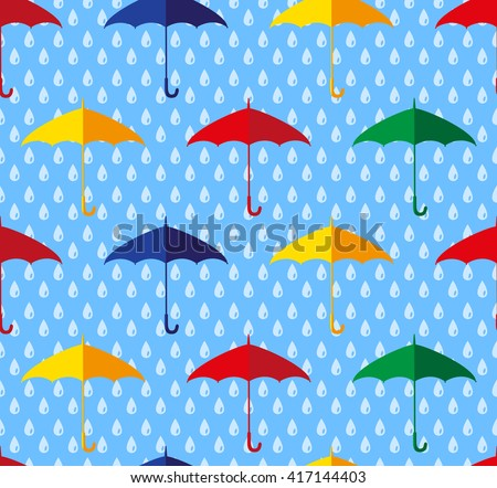umbrella seamless pattern, vector