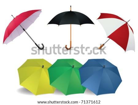 Umbrella set - stock vector