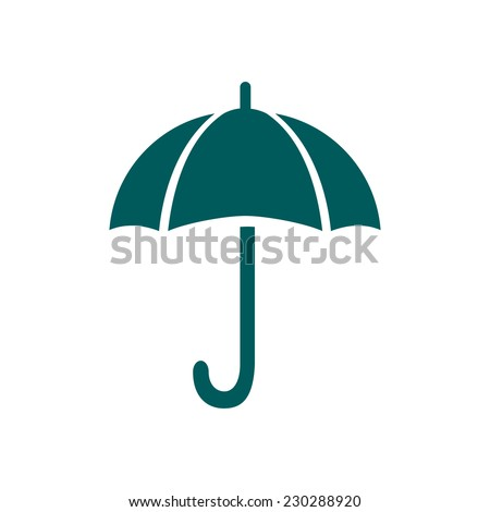 Umbrella sign icon. Rain protection symbol. Flat design style.  - stock vector