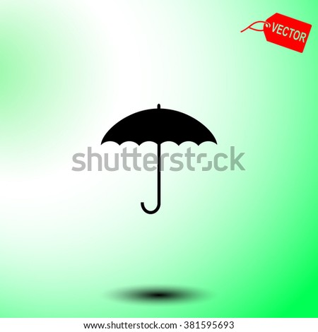 Umbrella vector icon.