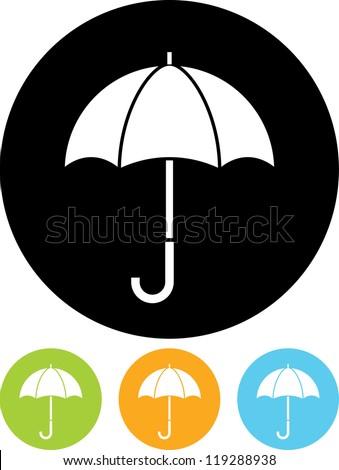 Umbrella - Vector icon isolated - stock vector