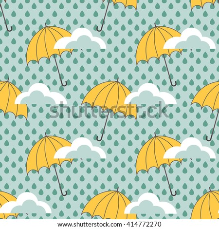 umbrellas seamless pattern