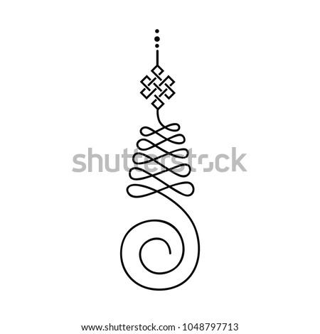 Unalome Buddhist Symbol Life Path Stock Vector 1048797713 Shutterstock