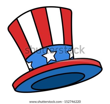 uncle sam cartoon hat - stock vector