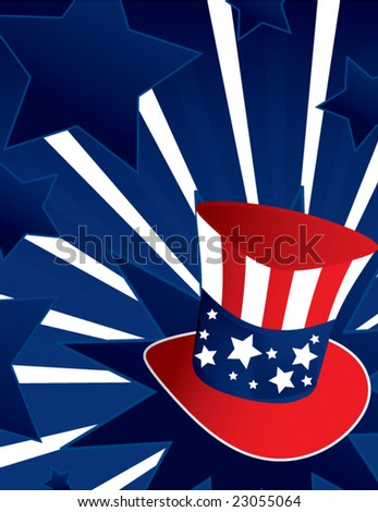 Uncle Sam hat background - vector - stock vector