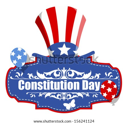 Uncle Sam Hat - Constitution Day Vector Illustration - stock vector