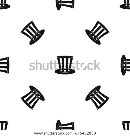uncle sam hat pattern repeat seamless stock vector 696452830