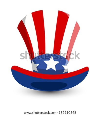 Uncle Sam Hat Vector - stock vector