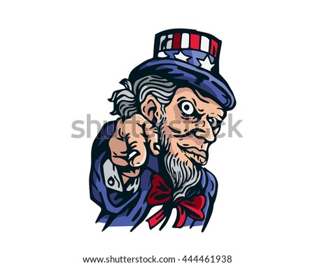 Uncle Sam Patriotic American Caricature  - We All Need Freedom - stock vector