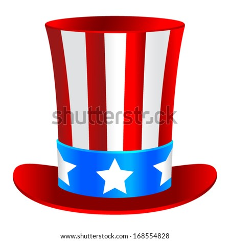 Uncle Sam's hat - stock vector