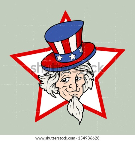Uncle sam - 4th of July Vector theme Design