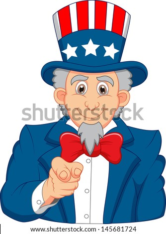 Uncle Sam Want You - stock vector
