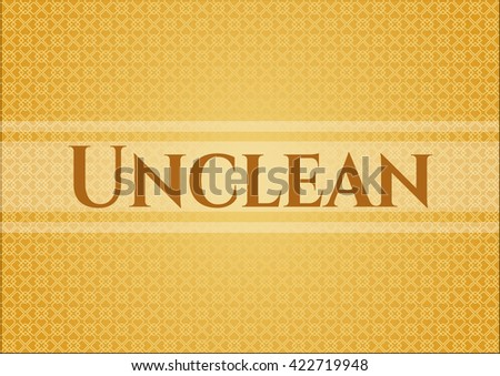 Unclean card, poster or banner