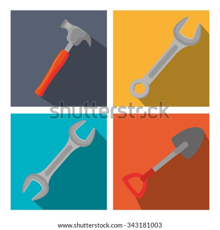 Under construction and tools graphic design, vector illustration eps10